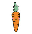 kawaii cute angry carrot vegetable vector image vector image