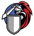 knight mascot vector image