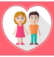 Lovers holding hands vector image vector image