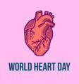medical heart day concept background hand drawn vector image vector image