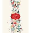 Merry Christmas pattern banner vector image vector image