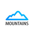 mountains logo emblem for tour decoration vector image vector image