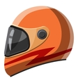 Orange racing helmet icon isometric 3d style vector image vector image