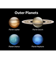 Outer planets vector image vector image