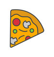 pizza slice isolated icon vector image