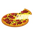 Pizza slices pepperoni and mushroom vector image vector image