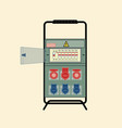 portable electrical switchboard vector image vector image