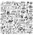 raphip hop graffiti - doodles set vector image