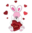 Romantic Rabbit vector image vector image