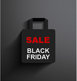 SALE shopping bag Black Friday vector image