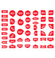 sale sticker set red promotion labels modern flat vector image