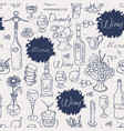 seamless texture background on topic wine vector image vector image