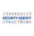 security agency property protect minimal vector image vector image