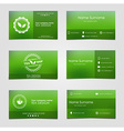 set business cards for tea vector image vector image