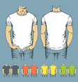 set of t-shirts templates vector image vector image
