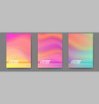 set posters with colorful liquid shape vector image vector image