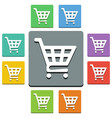shopping cart icons - almost flat style vector image