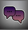 speech bubbles sign violet gradient icon vector image