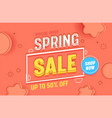 spring sale banner promotion discount advertising vector image vector image