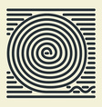 Striped Spiral vector image vector image