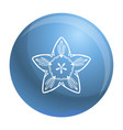 summer flower icon simple style vector image