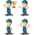 Technician or Repairman Mascot 5 vector image vector image