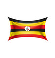 uganda flag on a white vector image