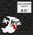 wall halloween party vector image vector image