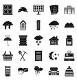 warm house icons set simple style vector image vector image