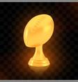winner american football cup award golden trophy vector image vector image
