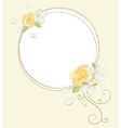 Yellow rose and apple flowers beautiful round vector image vector image