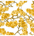 yellow rowan seamless pattern vector image