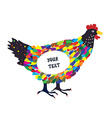 Decorative hen for the card or background with vector image