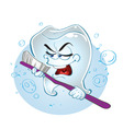 singing tooth vector image