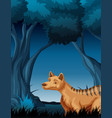 a hyena in tropical rainforest background vector image vector image