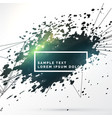 abstract black ink splash with lines background vector image vector image