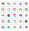 Abstract colorful design elements and icons vector image vector image