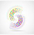 abstract dotted circles dots in circular form vector image vector image