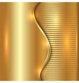 abstract gold background with curve and stripes vector image vector image