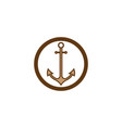 anchor icon logo template vector image vector image