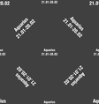Aquarius sign Seamless pattern on a gray vector image vector image