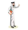 arab man character vector image vector image