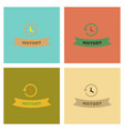 assembly flat icons history lesson vector image vector image