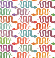 Background of many snakes Colorful reptiles are vector image vector image
