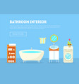 bathroom interior banner template with furniture vector image
