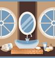 bathroom sink sanitary vector image