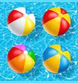 beach ball set vector image vector image