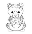 bear cute wildlife icon vector image vector image