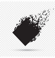 black square stone with debris isolated abstract vector image vector image