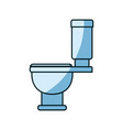 blue shading silhouette of toilet icon side view vector image vector image